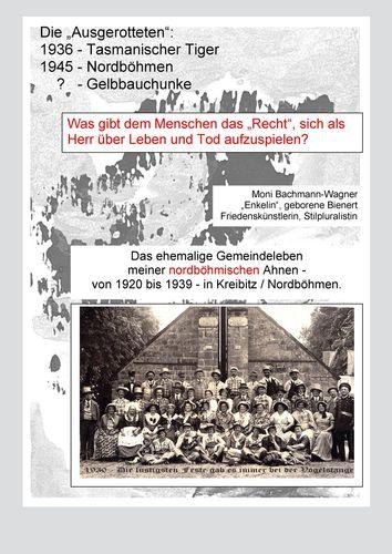"""Die """"Ausgerotteten"""": 1936 - Tasmanischer Tiger, 1945 - Nordböhmen, ? - Geldbauchunke"""