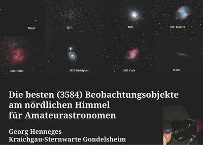 Die besten (3584) Beobachtungsobjekte für Amateurastronomen am nördlichen Himmel