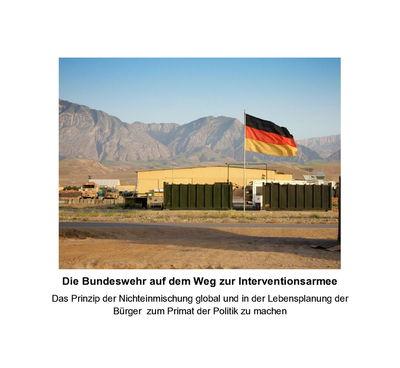 Die Bundeswehr auf dem Weg zur Interventionsarmee