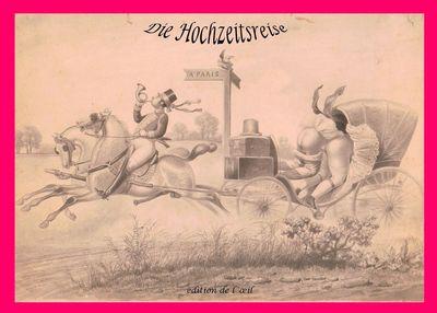 Die Hochzeitsreise - Eine Folge von 10  anonymen Radierungen um 1890