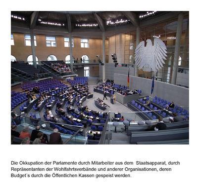 Die Okkupation der Parlamente durch Mitarbeiter aus dem  Staatsapparat