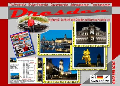 DRESDEN - Tischkalender - Ewiger Kalender - Dauerkalender - Jahreskalender - Terminkalender