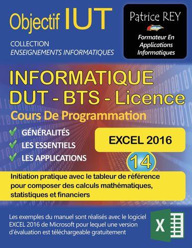 DUT Informatique - EXCEL 2016 (Tome 14)
