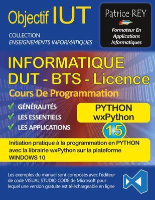 DUT informatique wxPython (tome 15)