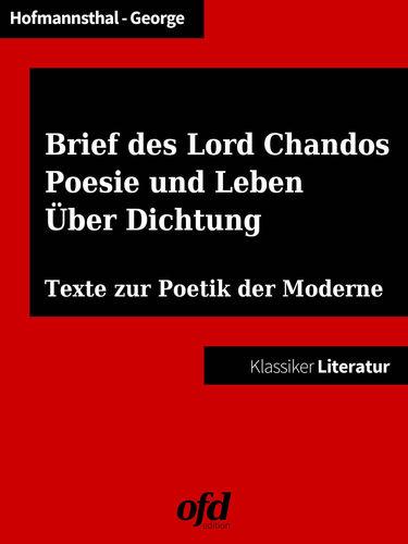 Ein Brief des Lord Chandos - Poesie und Leben - Über Dichtung