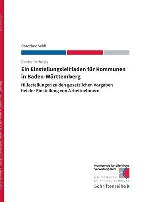 Ein Einstellungsleitfaden für Kommunen in Baden-Württemberg