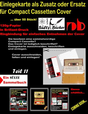 Einlegekarte als Zusatz oder Ersatz für Compact Cassetten Cover