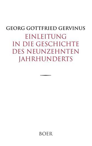 Einleitung in die Geschichte des neunzehnten Jahrhunderts