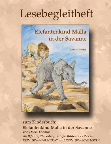 Elefantenkind Malla in der Savanne - Lesebegleitheft