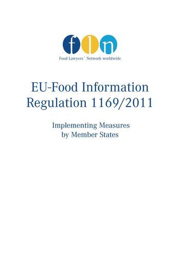 EU-Food Information Regulation 1169/2011