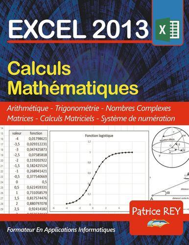 EXCEL 2013 calculs mathematiques