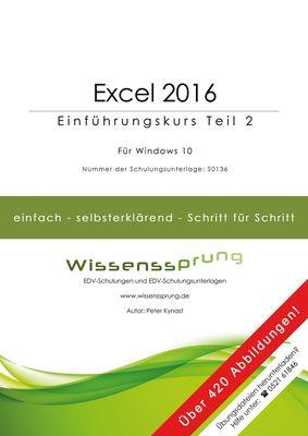 Excel 2016 - Einführungskurs Teil 2