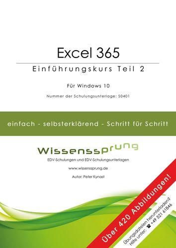 Excel 365 - Einführungskurs Teil 2