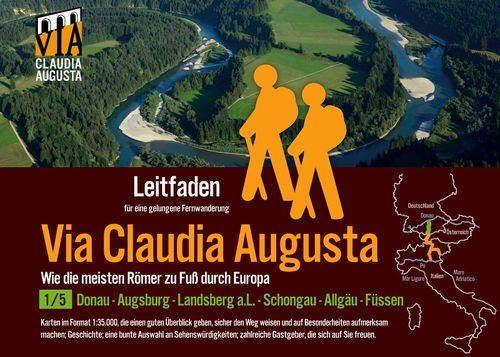 Fern-Wander-Route Via Claudia Augusta 1/5 Bayern   P R E M I U M