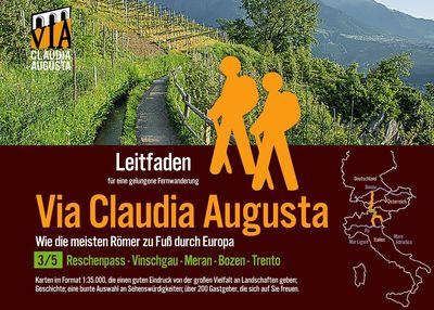 Fern-Wander-Route Via Claudia Augusta 3/5 Reschenpass-Trento