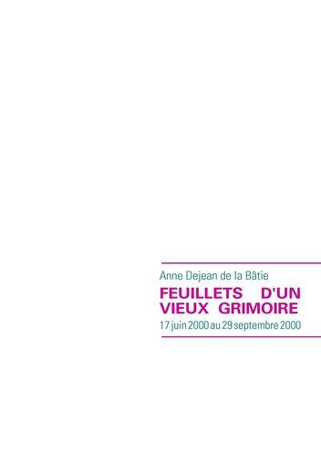 FEUILLETS D'UN VIEUX GRIMOIRE
