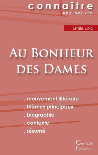 Fiche de lecture Au Bonheur des Dames de Émile Zola (Analyse littéraire de référence et résumé complet)