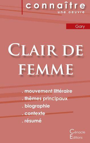 Fiche de lecture Clair de femme de Romain Gary