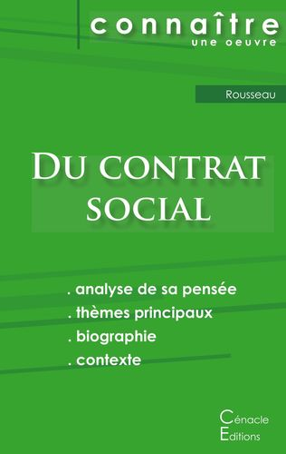 Fiche de lecture Du contrat social de Rousseau (Analyse philosophique de référence et résumé complet)