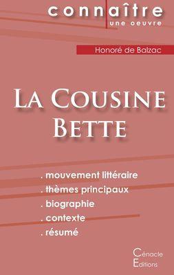 Fiche de lecture La Cousine Bette (Analyse littéraire de référence et résumé complet)