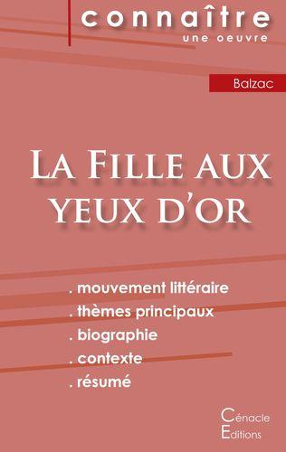 Fiche de lecture La Fille aux yeux d'or de Balzac (Analyse littéraire de référence et résumé complet)