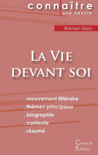 Fiche de lecture La Vie devant soi de Romain Gary (analyse complète)