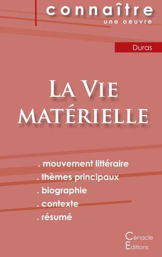 Fiche de lecture La Vie matérielle de Marguerite Duras (Analyse littéraire de référence et résumé complet)