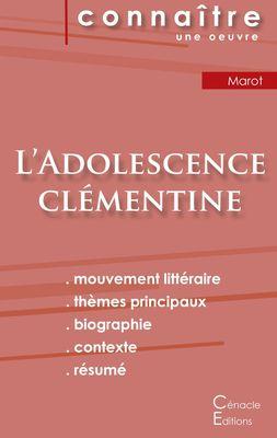 Fiche de lecture L'Adolescence clémentine de Clément Marot (Analyse littéraire de référence et résumé complet)
