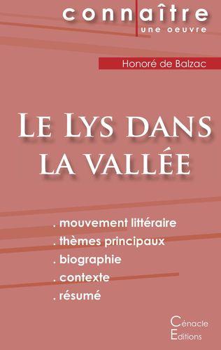 Fiche de lecture Le Lys dans la vallée (Analyse littéraire de référence et résumé complet)