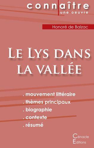 Fiche de lecture Le Lys dans la vallée de Balzac (Analyse littéraire de référence et résumé complet)