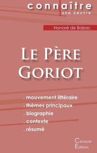 Fiche de lecture Le Père Goriot (Analyse littéraire de référence et résumé complet)