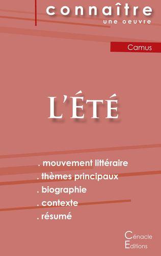 Fiche de lecture L'Été de Albert Camus (Analyse littéraire de référence et résumé complet)