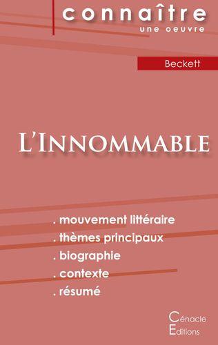 Fiche de lecture L'Innommable de Samuel Beckett (Analyse littéraire de référence et résumé complet)