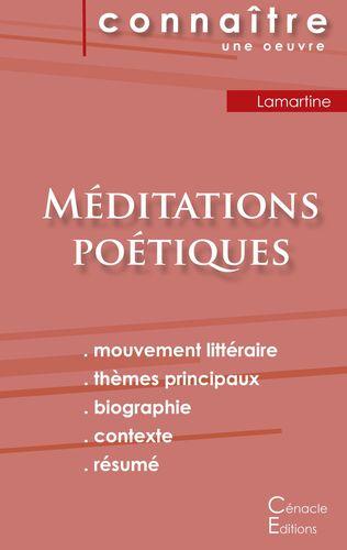 Fiche de lecture Méditations poétiques de Lamartine (Analyse littéraire de référence et résumé complet)