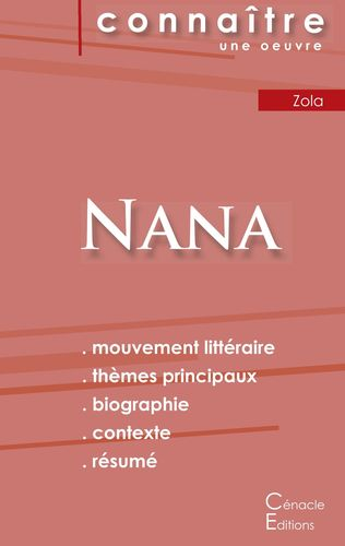 Fiche de lecture Nana (Analyse littéraire de référence et résumé complet)