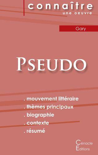 Fiche de lecture Pseudo (Analyse littéraire de référence et résumé complet)