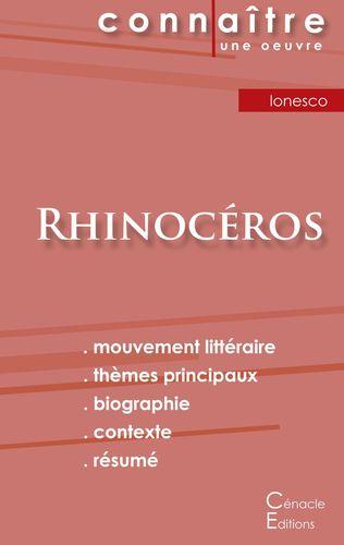 Fiche de lecture Rhinocéros de Eugène Ionesco (Analyse littéraire de référence et résumé complet)