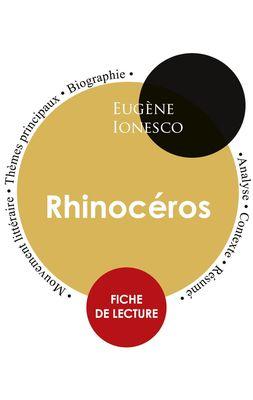 Fiche de lecture Rhinocéros (Étude intégrale)