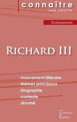 Fiche de lecture Richard III de Shakespeare (Analyse littéraire de référence et résumé complet)