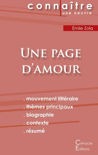 Fiche de lecture Une page d'amour de Émile Zola (Analyse littéraire de référence et résumé complet)