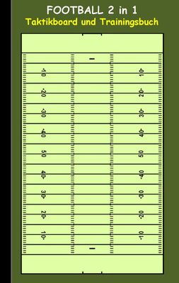 Football 2 in 1 Taktikboard und Trainingsbuch