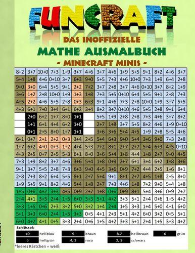 Funcraft - Das inoffizielle Mathe Ausmalbuch: Minecraft Minis (Cover Hase)