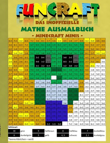Funcraft - Das inoffizielle Mathe Ausmalbuch: Minecraft Minis (Cover Zombie)