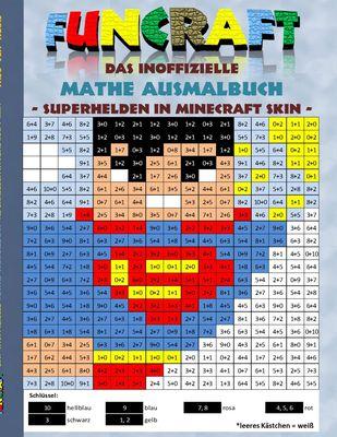 Funcraft - Das inoffizielle Mathe Ausmalbuch: Superhelden im Minecraft Skin (Superman Cover)