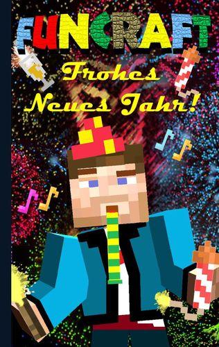 Funcraft - Frohes Neues Jahr an alle Minecraft Fans! (inoffizielles Notizbuch) - Das Geschenkbuch zu Silvester / Neujahr!