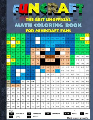 Funcraft - The best unofficial Math Coloring Book for Minecraft Fans