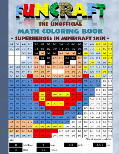 Funcraft - The unofficial Math Coloring Book: Superheroes in Minecraft Skin