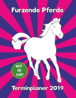 Furzende Pferde Terminplaner 2019