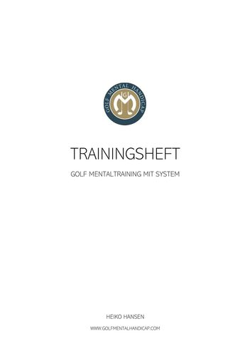 Golf Mental Handicap Trainingsheft