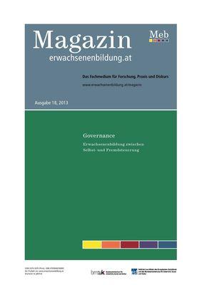Governance. Erwachsenenbildung zwischen Selbst- und Fremdsteuerung